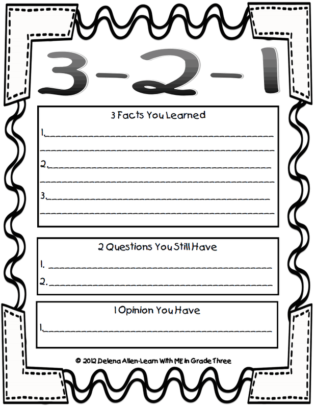 3 2 1 Instructional Strategies
